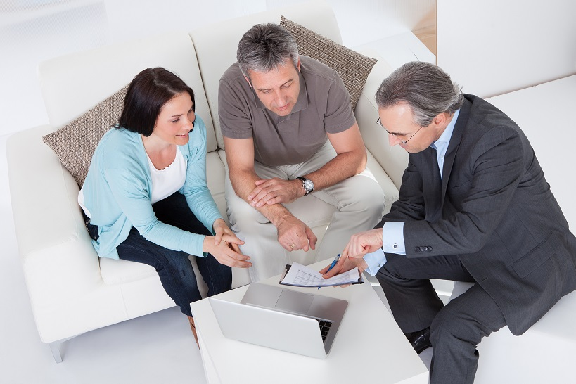 Couple getting help from an advisor