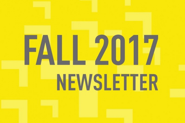 Fall 2017 Newsletter on yellow background